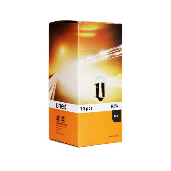 UNEX R5W 12V 10 er Pack