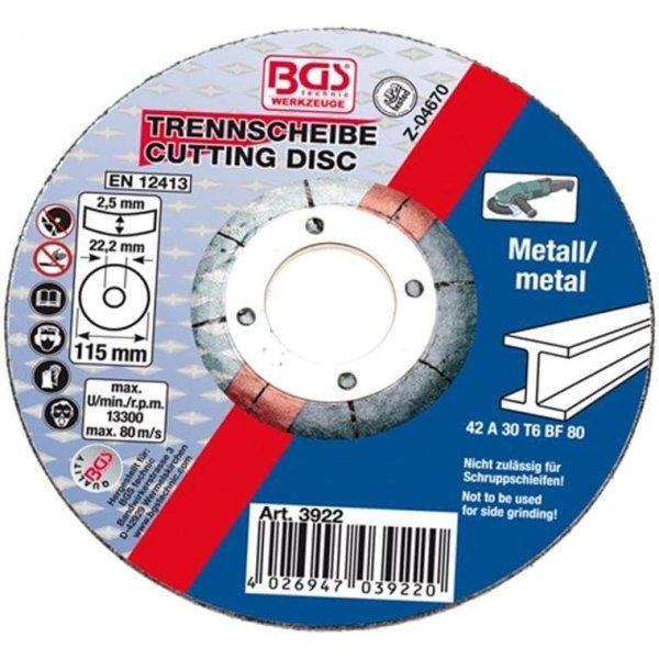 Trennscheibe für Metall 115 x 2,5 mm, Typ 42