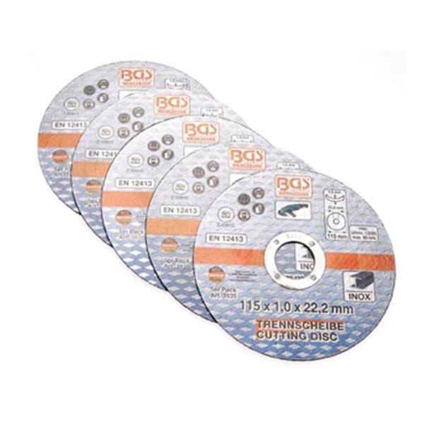 Trennscheibe für Edelstahl 115 x 1,0 x 22,2 mm, 5er Set